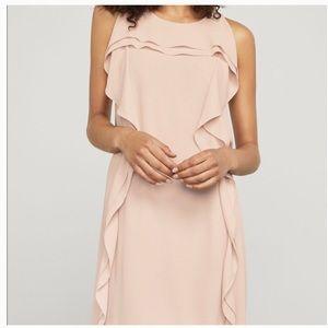 BCBGMaxazria Nikole Asymmetrical ruffle pink dress